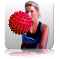 Massage Ball 10cm - Red
